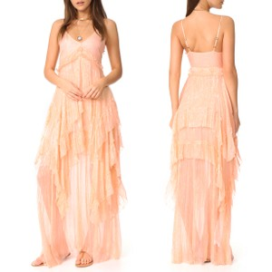 Free People Maxi Pink Casual Dress