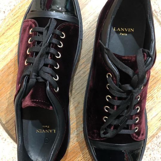 Lanvin Burgundy/Black Athletic