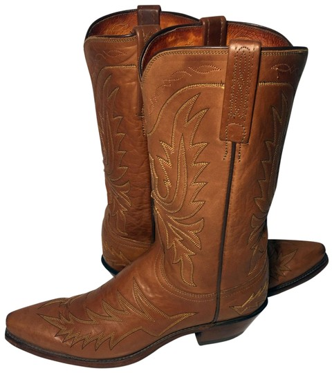 Preload https://img-static.tradesy.com/item/24097586/lucchese-brown-1883-leather-western-cowgirl-cowboy-women-bootsbooties-size-us-8-regular-m-b-0-1-540-540.jpg