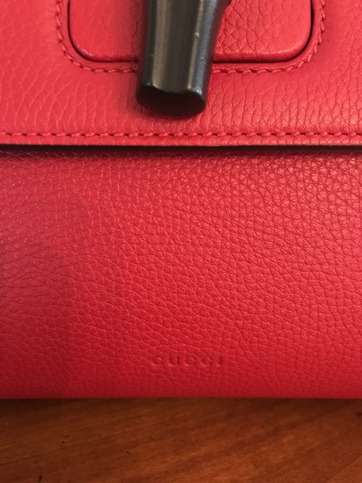 Gucci Bamboo Tote in Red Image 10