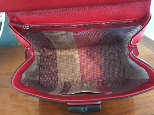Gucci Bamboo Tote in Red Image 9
