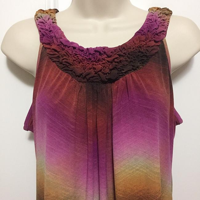 New Directions Top Brown, Pink, Gold