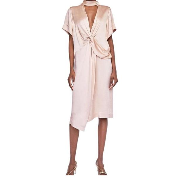 nude Maxi Dress by Zara
