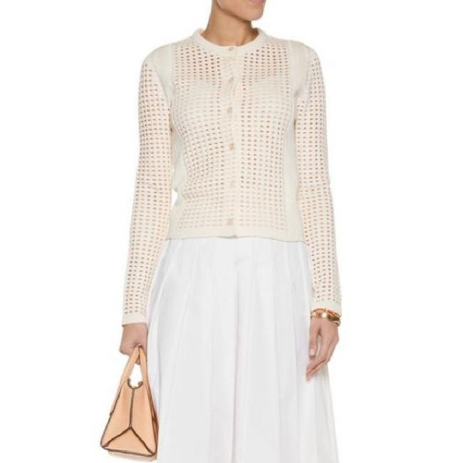 Preload https://img-static.tradesy.com/item/24097659/tory-burch-off-white-honeycomb-knit-cardigan-size-2-xs-0-0-650-650.jpg