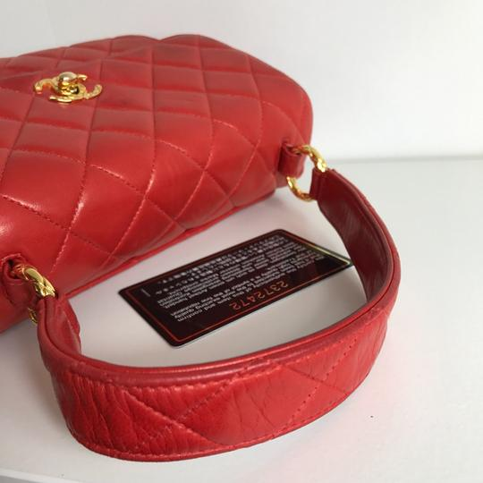 Chanel Satchel in red Image 9
