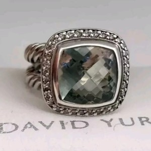 David Yurman David Yurman Albion Prasiolite Diamond Ring
