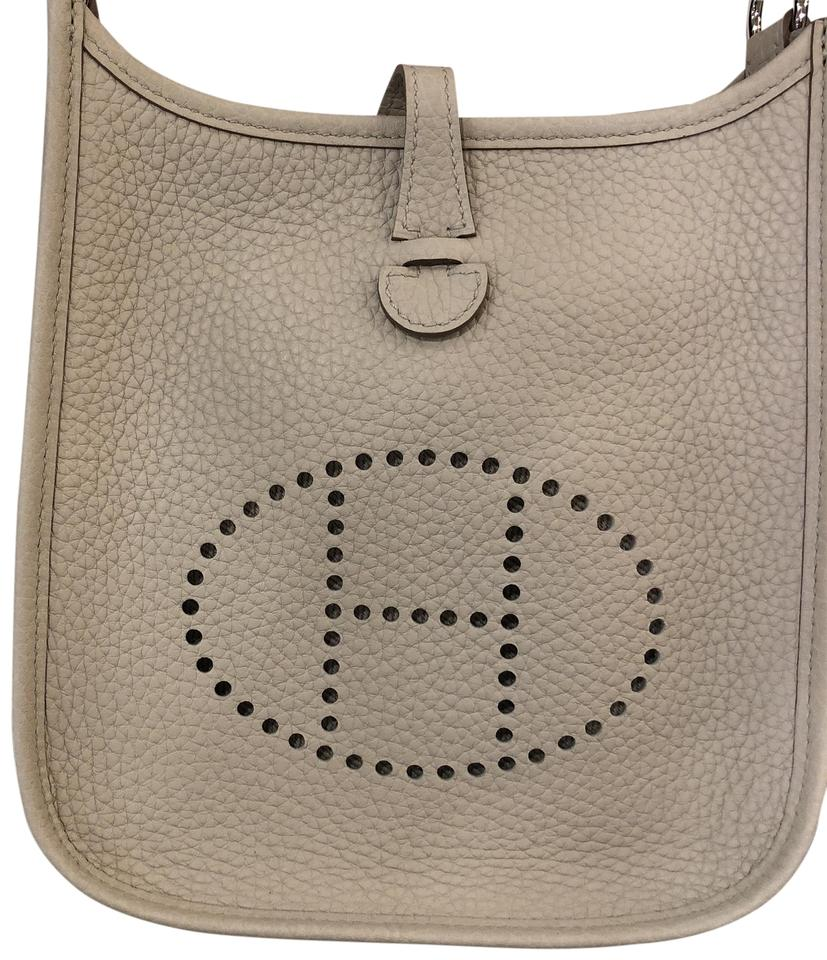387d79814668 Hermès Evelyne Mini-tpm Cream Taupe Clemence Pebbled Leather Cross Body Bag  26% off retail