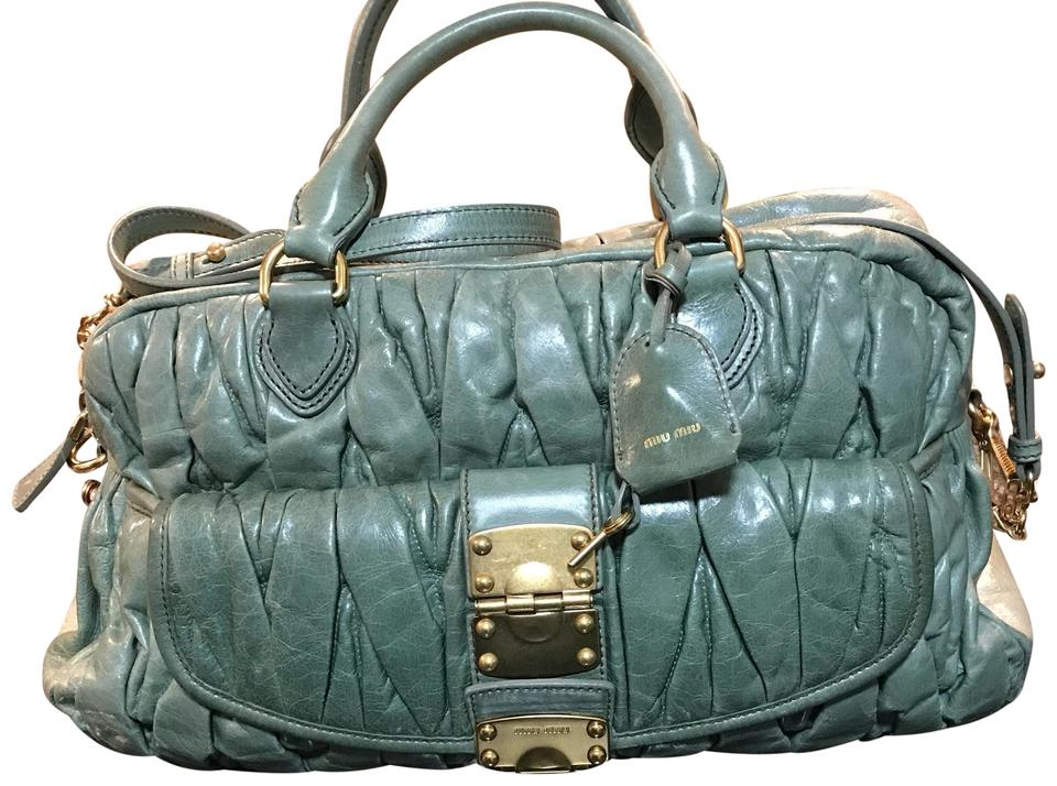 6a829ca83898 Miu Miu Olive Green Leather Shoulder Bag - Tradesy