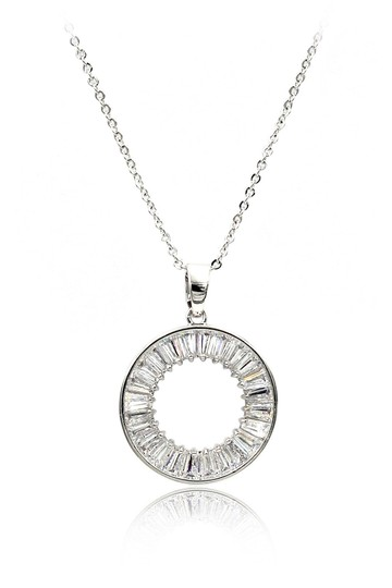 Preload https://img-static.tradesy.com/item/24097760/silver-sterling-crystal-circle-necklace-0-0-540-540.jpg