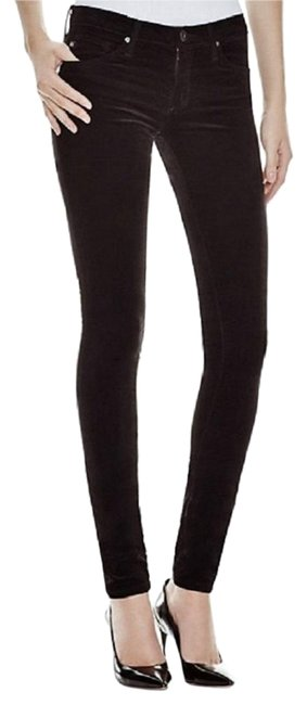 Preload https://img-static.tradesy.com/item/24097792/ag-adriano-goldschmied-black-coated-velvet-legging-stretch-soft-velour-maximalism-skinny-jeans-size-0-1-650-650.jpg