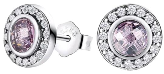 Preload https://img-static.tradesy.com/item/24097847/-violet-sterling-silver-round-cut-studs-earrings-0-1-540-540.jpg