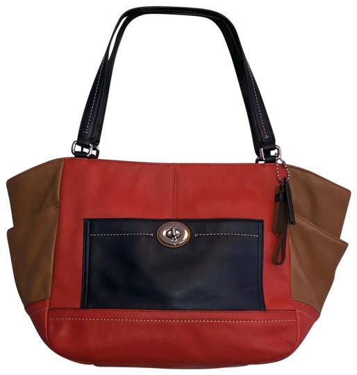 Preload https://img-static.tradesy.com/item/24097851/coach-1941-block-color-carry-all-orange-leather-tote-0-1-540-540.jpg