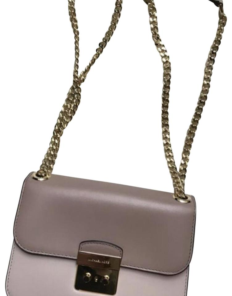 81837b8473a073 Michael Kors Sloan Soft Pink and Fawn Leather Shoulder Bag - Tradesy