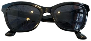Isaac Mizrahi Classic Cat Eye with Blue and White Detailing