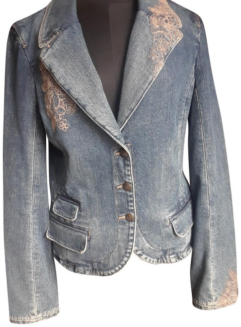 Item - Denim Crescent Jacket Size 8 (M)
