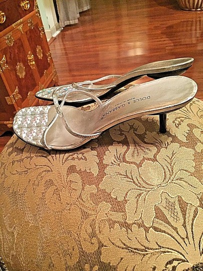 Dolce&Gabbana Slip On Silver Sandals