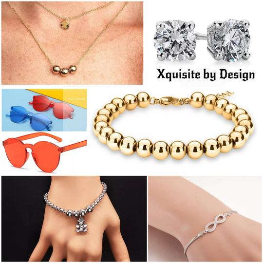 Xquisite by Desygn STERLING SILVER .925 ROUND CUT STUDS Image 6