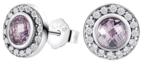 Preload https://img-static.tradesy.com/item/24097915/-violet-sterling-silver-round-cut-studs-earrings-0-1-540-540.jpg