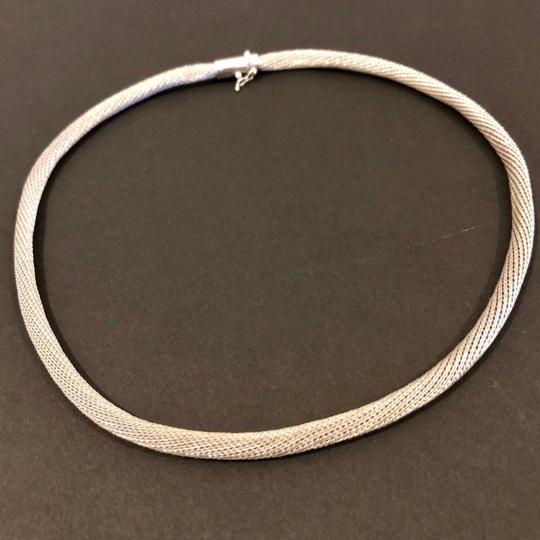14K White Gold made in Italy 14K White Gold mesh tube necklace