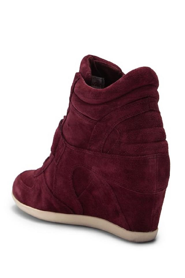 1e33f3d57bef Ash Wedge Sneaker Suede Leather Red Burgundy Athletic Image 11.  123456789101112