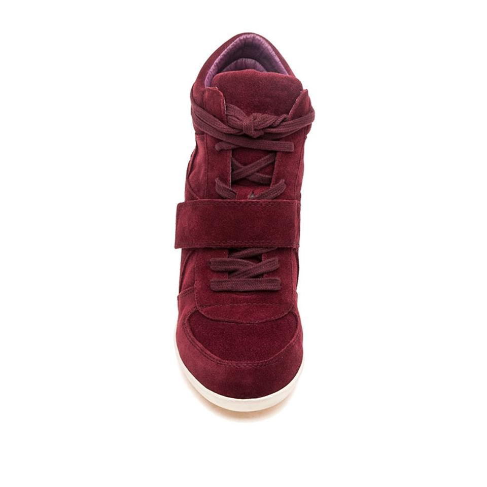 Ash Burgundy Bowie Suede Leather High Top Wedge Sneakers Size EU 39 (Approx. US 9) Regular (M, B)