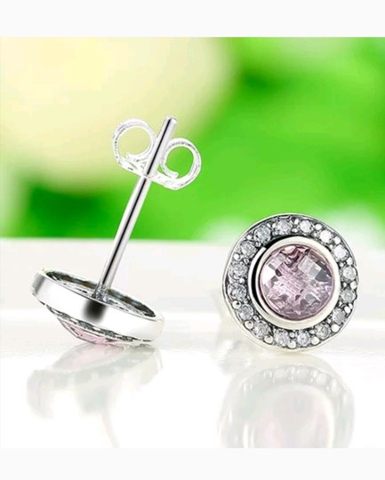 Xquisite by Desygn STERLING SILVER .925 ROUND CUT GEMSTONE STUDS Image 3