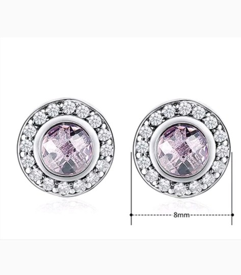 Xquisite by Desygn STERLING SILVER ROUND CUT GEMSTONE STUDS