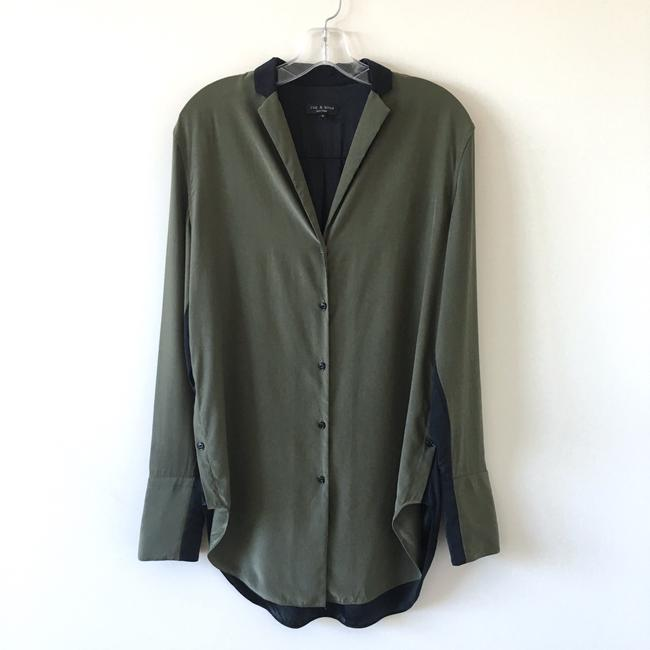 Preload https://img-static.tradesy.com/item/24097952/rag-and-bone-army-green-black-leighton-button-down-top-size-8-m-0-2-650-650.jpg