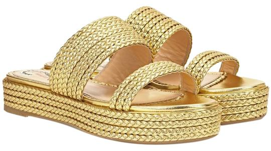Preload https://img-static.tradesy.com/item/24098010/charlotte-olympia-gold-hackney-leather-sandals-size-eu-41-approx-us-11-regular-m-b-0-1-540-540.jpg