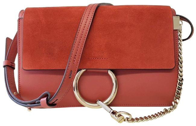 Chloé Faye - Small Red Leather and Suede (Calf) Shoulder Bag Chloé Faye - Small Red Leather and Suede (Calf) Shoulder Bag Image 1