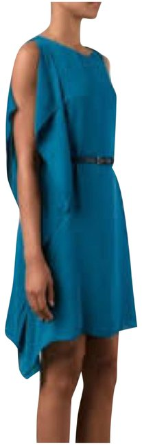 Preload https://img-static.tradesy.com/item/24098068/halston-turquoise-heritage-draped-detail-short-cocktail-dress-size-8-m-0-1-650-650.jpg