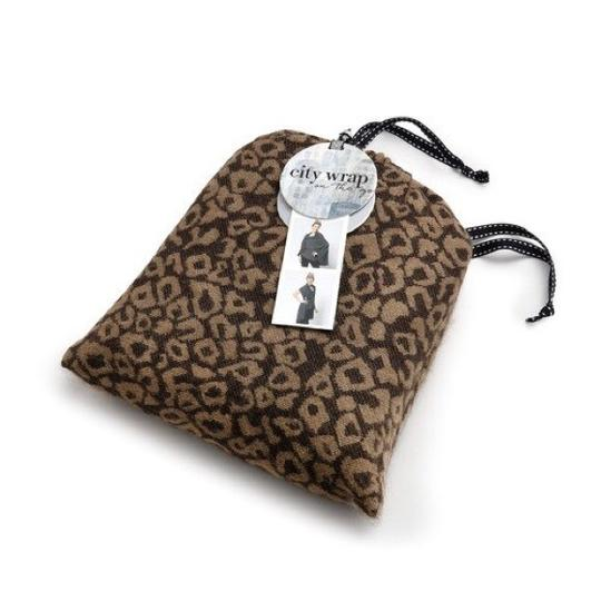 City Wrap To Go Leopard Animal Print Woven City Wrap on the Go