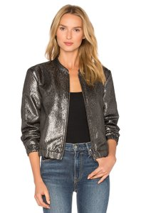 Paige Bomber Rosie Short Metallic Jacket