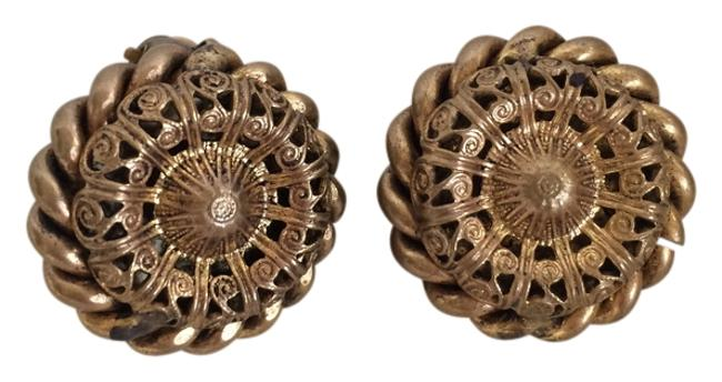 Item - Gold Vintage Clip-on Mother's Day Earrings