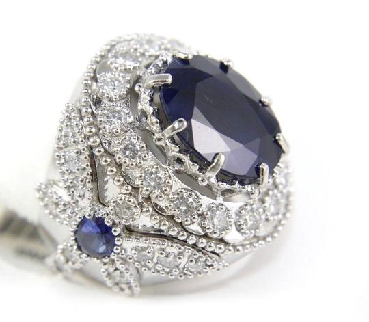 Preload https://img-static.tradesy.com/item/24098134/blue-and-silver-oval-sapphire-wdragonfly-diamond-accents-14k-wg-1242ct-ring-0-0-540-540.jpg