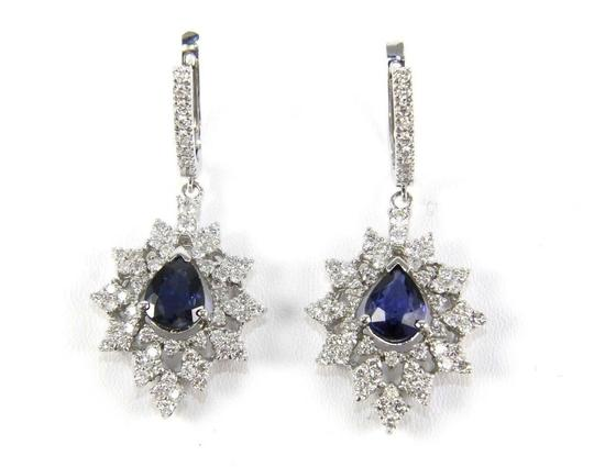 Preload https://img-static.tradesy.com/item/24098155/blue-and-silver-sapphire-pear-drop-wdiamond-accents-14k-wg-684ct-earrings-0-0-540-540.jpg
