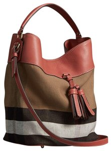 408f5e209169 Burberry Brit Grainy Check Medium Ashby Tassel Multicolor Leather ...