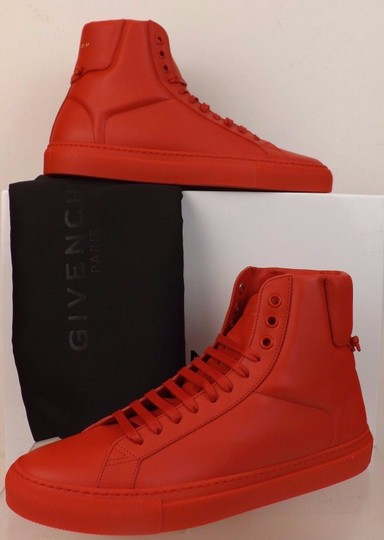 Givenchy Red Mens Leather Urban Knots Hi Top Trainer Sneakers 40 Us 7 Shoes Image 1