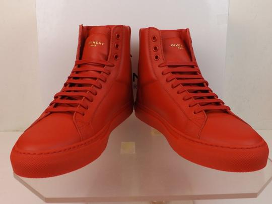 Givenchy Red Mens Leather Urban Knots Hi Top Trainer Sneakers 40 Us 7 Shoes Image 10