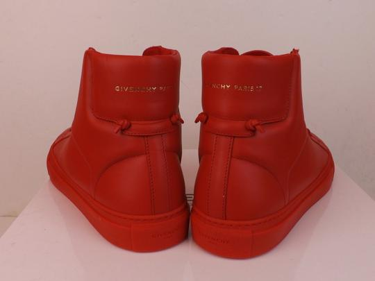 Givenchy Red Mens Leather Urban Knots Hi Top Trainer Sneakers 40 Us 7 Shoes Image 2