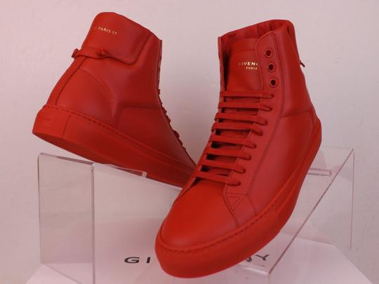 Givenchy Red Mens Leather Urban Knots Hi Top Trainer Sneakers 40 Us 7 Shoes Image 3