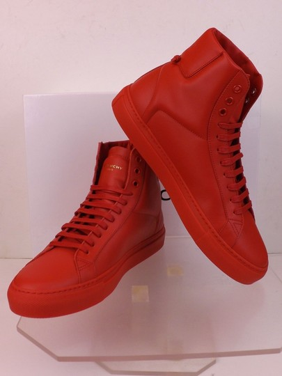 Givenchy Red Mens Leather Urban Knots Hi Top Trainer Sneakers 40 Us 7 Shoes Image 4