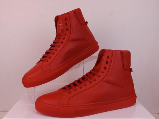 Givenchy Red Mens Leather Urban Knots Hi Top Trainer Sneakers 40 Us 7 Shoes Image 5