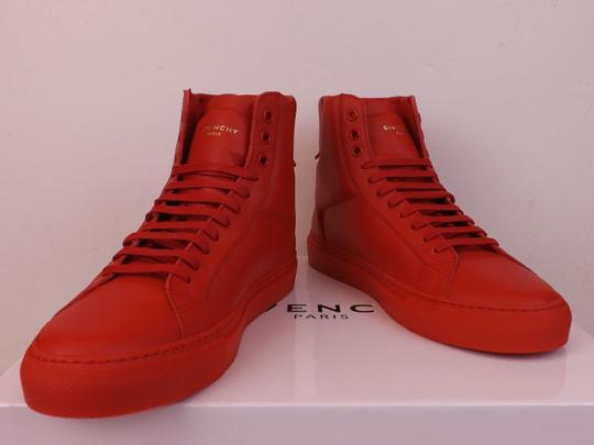 Givenchy Red Mens Leather Urban Knots Hi Top Trainer Sneakers 40 Us 7 Shoes Image 6