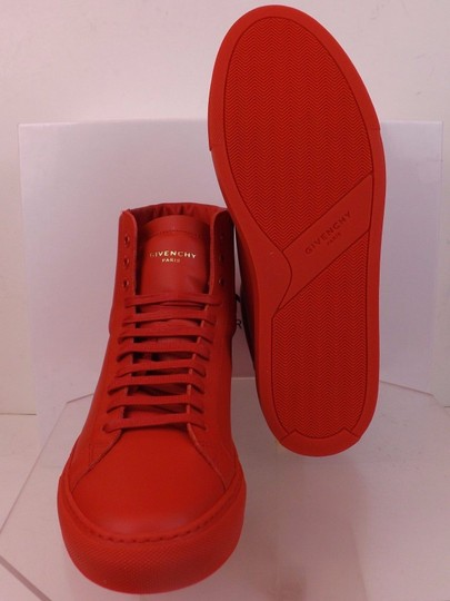 Givenchy Red Mens Leather Urban Knots Hi Top Trainer Sneakers 40 Us 7 Shoes Image 8