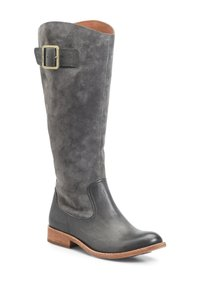 Kork-Ease Gray Suede Riding Boots
