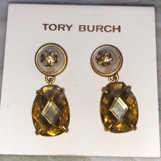 Tory Burch EPOXY PEARL STONE EARRINGS Image 1