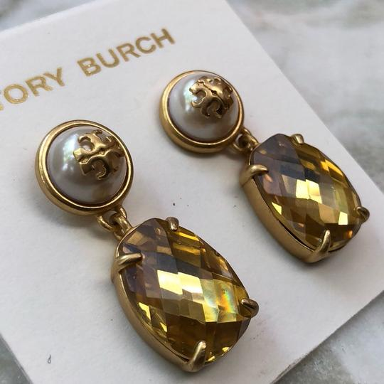 Tory Burch EPOXY PEARL STONE EARRINGS Image 2