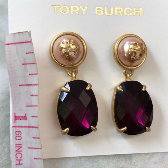 Tory Burch EPOXY PEARL STONE EARRINGS Image 3