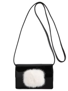 Saint Laurent Fur Messenger Shoulder Cross Body Bag